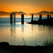 Romantic Sunset View at Garry Point Park in Richmond BC Canada