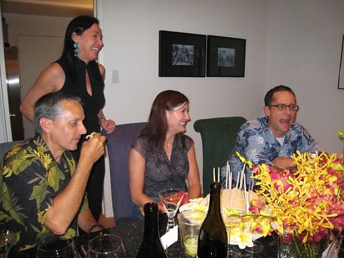 party, orchids, fuchsia, yellow, birthday c… IMG_0019