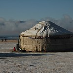 First Snow and Yurt - Song Kul, Kyrgyzstan