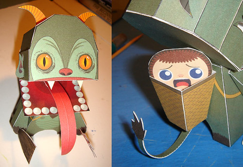 Krampus Paper Toy