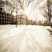 Brown University in winter