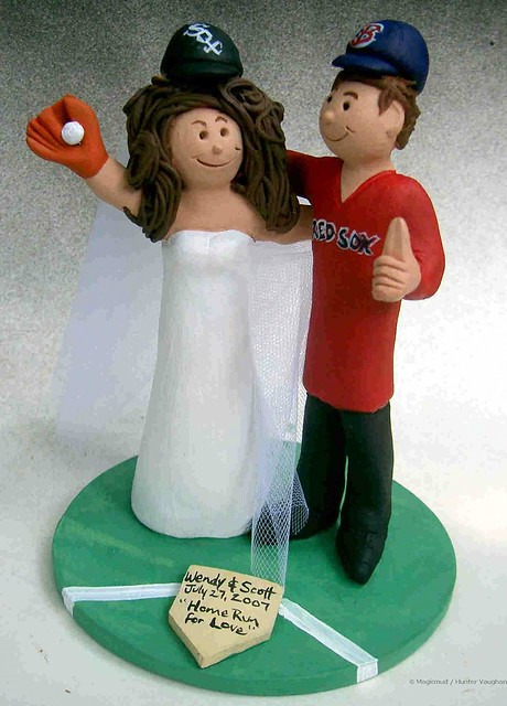 Boston Red Sox Fans Wedding Cake Topper