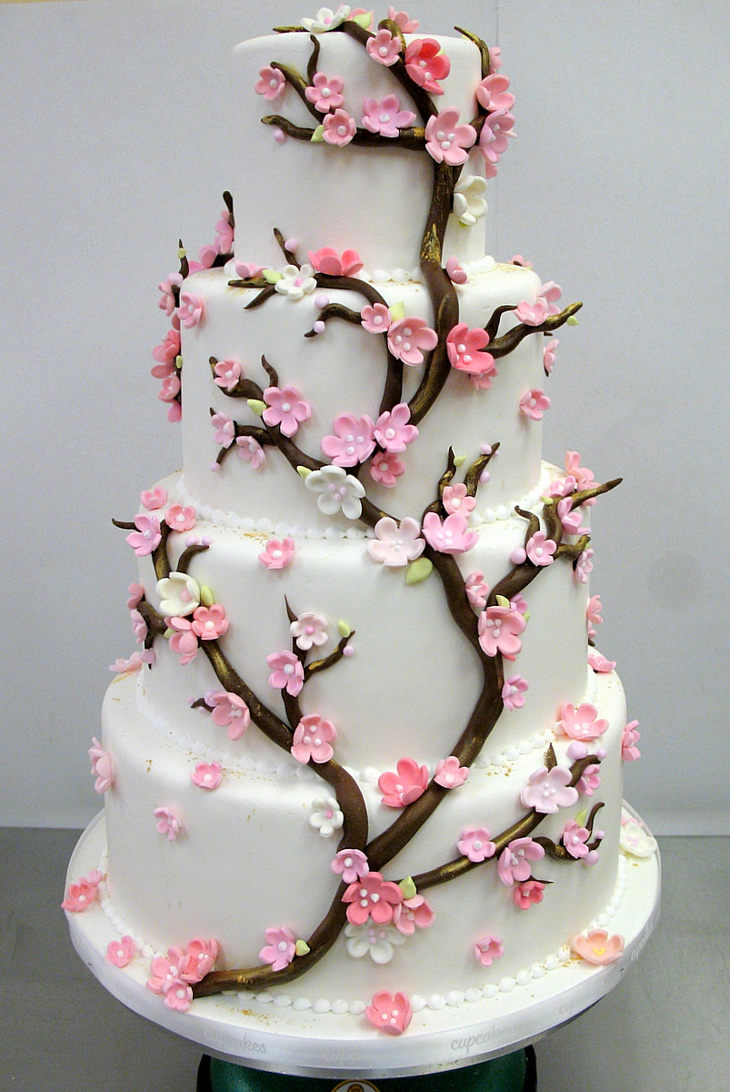 japanese cherry blossom wedding cake another cherry blossom wedding cake flickr photo 16585