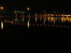 Nighttime Bridge Reflections