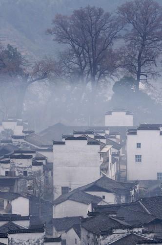 china fog architecture sunrise day 中国 goodmorning wuyuan jiangxi 江西 婺源 ef70200mmf4lisusm