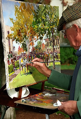 "Lexington Kentucky - Keeneland Race Track ""Artist at Work"""