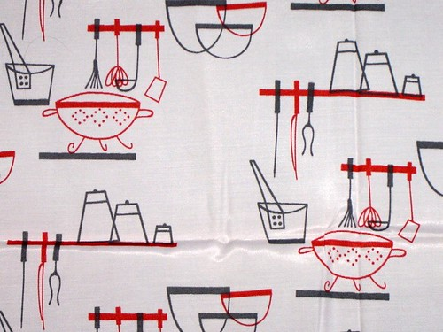 Vintage 50s kitchen fabric