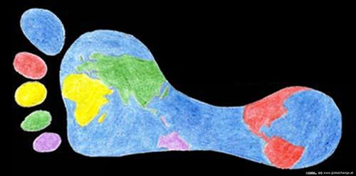 Footprint-Weltkarte by dekade, on Flickr