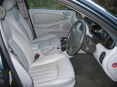automotive exterior(0.0), ford motor company(0.0), automobile(1.0), family car(1.0), vehicle(1.0), mid-size car(1.0), jaguar s-type(1.0), land vehicle(1.0), luxury vehicle(1.0),