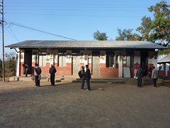 Biswamitra School building where Nepal Library Foundation funded library is housed