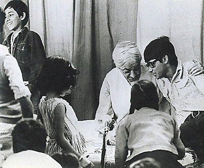 Krishnamurti with Students, Rishi Valley, India.