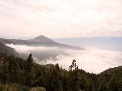Mar de nubes y Teide desde mirador de Chipeque