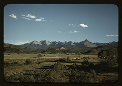 Farmland in the vicinity of Mt. Sneffels, Ouray County, Colorado (LOC). By: The Library of Congress