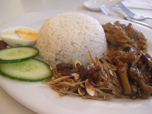 Nasi Lemak Special with Chicken Curry Kapitan and Sambal Eggpant - Nudle N Wraps | Flickr ...