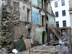 Demolished building, Mazā Peitavas iela / Kalēju iela, Rīga