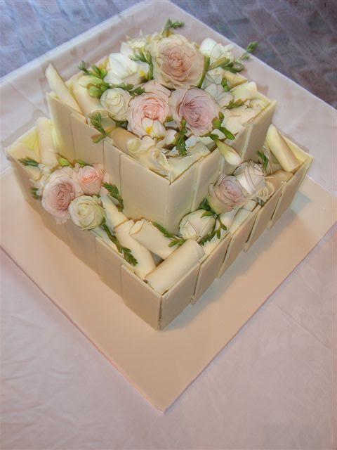 White chocolate wedding cake | Flickr - Photo Sharing!