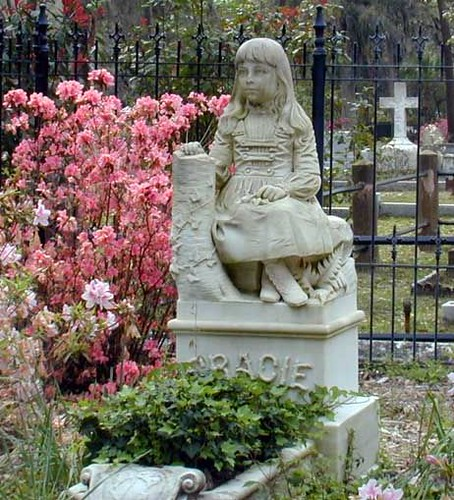 Gracie tombstone in bonaventure cemetery savannah ga th flickr photo sharing for Garden of good and evil statue