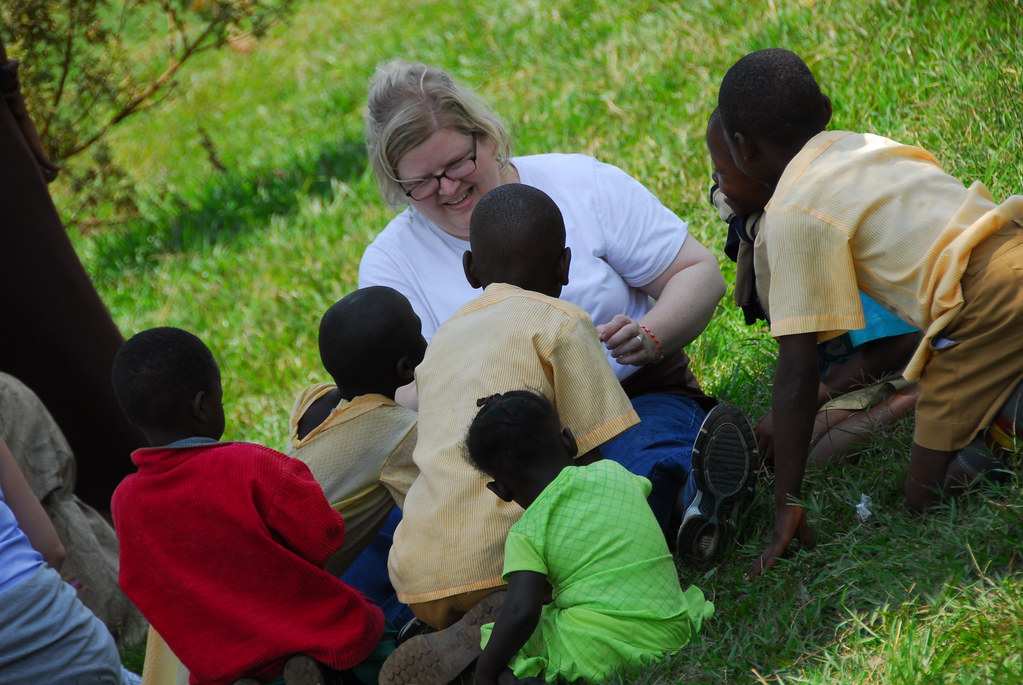 Sophie And Kids in Uganda