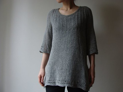 Sweater with Trumpet Sleeves