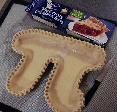 Pi Pie: Lined With Pie Dough