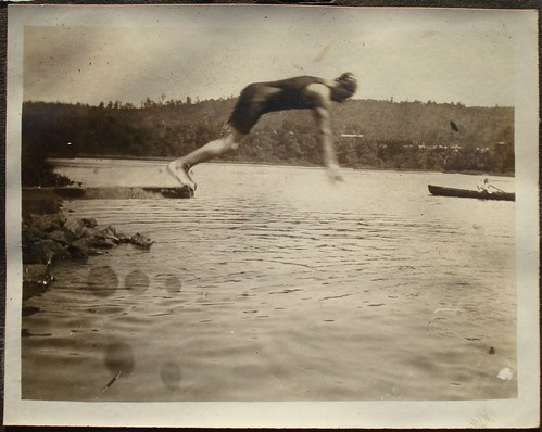 vintage swimmer off a diving board - Can you dive into this new version of internal company organization?