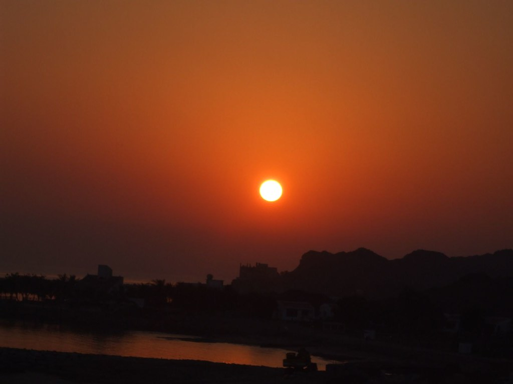 Sunset at JAL Hotel, Dibba