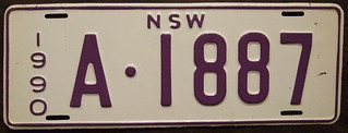AUSTRALIA, New South Wales 1990 dealer plate