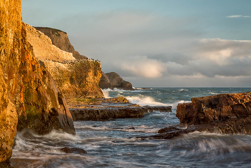 california greyhoundrock greyhoundrockcountypark santacruzcounty usa unitedstates beach bluff cliff cloud coast landscape ocean outdoor pacific pacificocean sea seascape shore shoreline sky sunset water