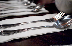 hand(0.0), fork(1.0), spoon(1.0), tool(1.0), tableware(1.0), silver(1.0), cutlery(1.0),