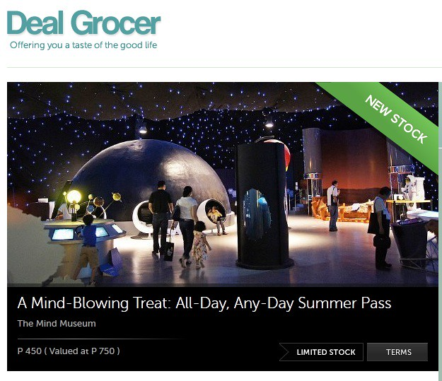 Mind Museum Deal Grocer Discount Vouchers