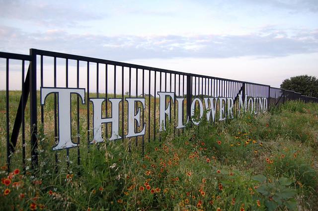The mound in Flower Mound, Texas