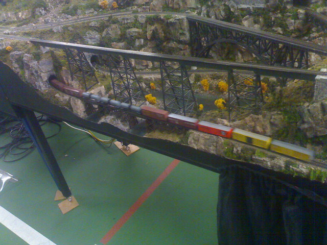 Model Train Through Tunnel