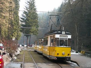 Kirnitzschtalbahn vom Stadtpark Bad Schandauer zum Lichtenhainer Wasserfall