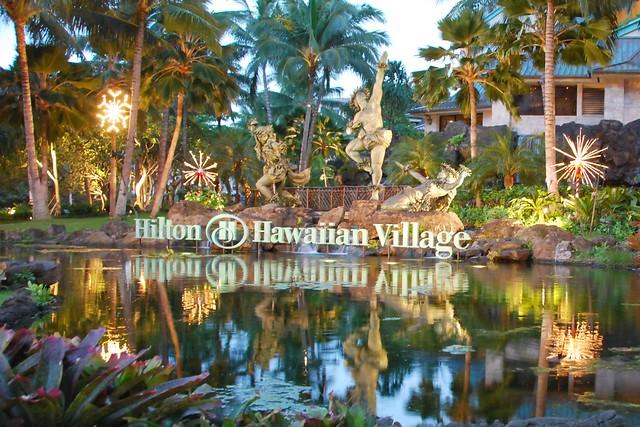 Hilton Hawaiian Village Waikiki Beach Photo Gallery: Hilton Hawaiian Village At Dusk Waikiki Oahu Hawaii