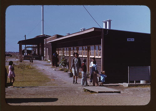 Gardens are planted in front of the row shelters, FSA ... labor camp, Robstown, Tex.  (LOC)