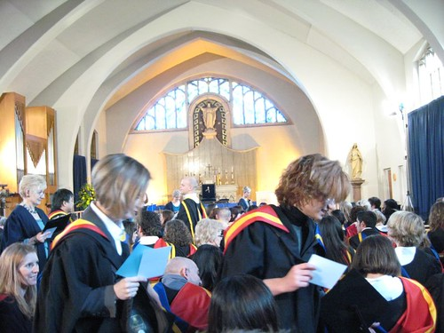 Graduation at Digby Stuart Chapel by Miranda Ash2006
