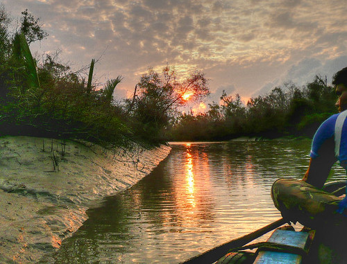 Dawn near the Bay of Bengal
