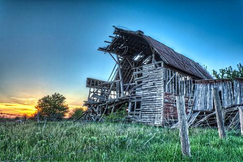 sunset abandoned architecture landscape decay grunge kansas hdr flinthills beautifuldecay ruralabandonment