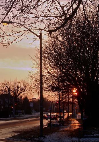 november sunset ontario brockville