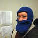 Blue Beard Hat, crocheted
