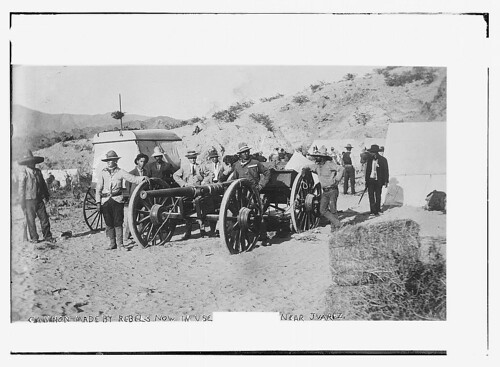 Cannon made by rebels now in use near Juarez  (LOC)