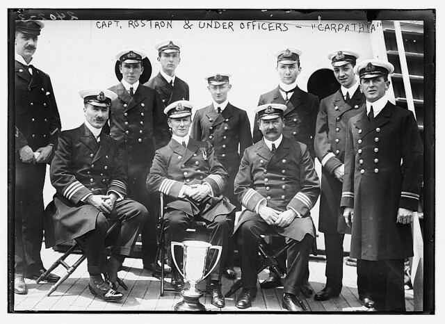 Capt. Rostron & under officers of CARPATHIA [ship]  (LOC)