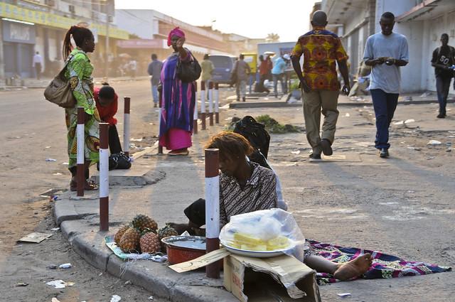 Street scene in Kinshasa