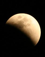 moon, lunar eclipse, celestial event, eclipse, crescent,