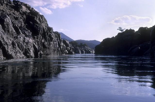 The river Cauvery at Hogenakal, Karnataka