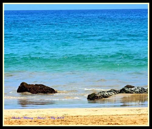 ocean beach water hawaii sand