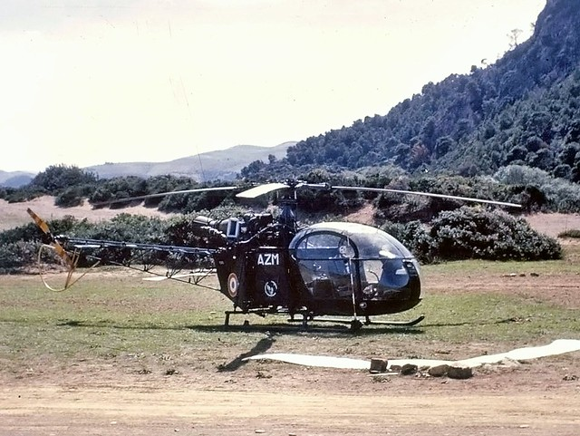 1963.08.010 ALGERIE - Cherchell - Sud Aviation SE-3130 Alouette II de l'ALAT