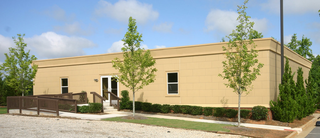 Modular buildings and mobile offices for Modern church youth building design