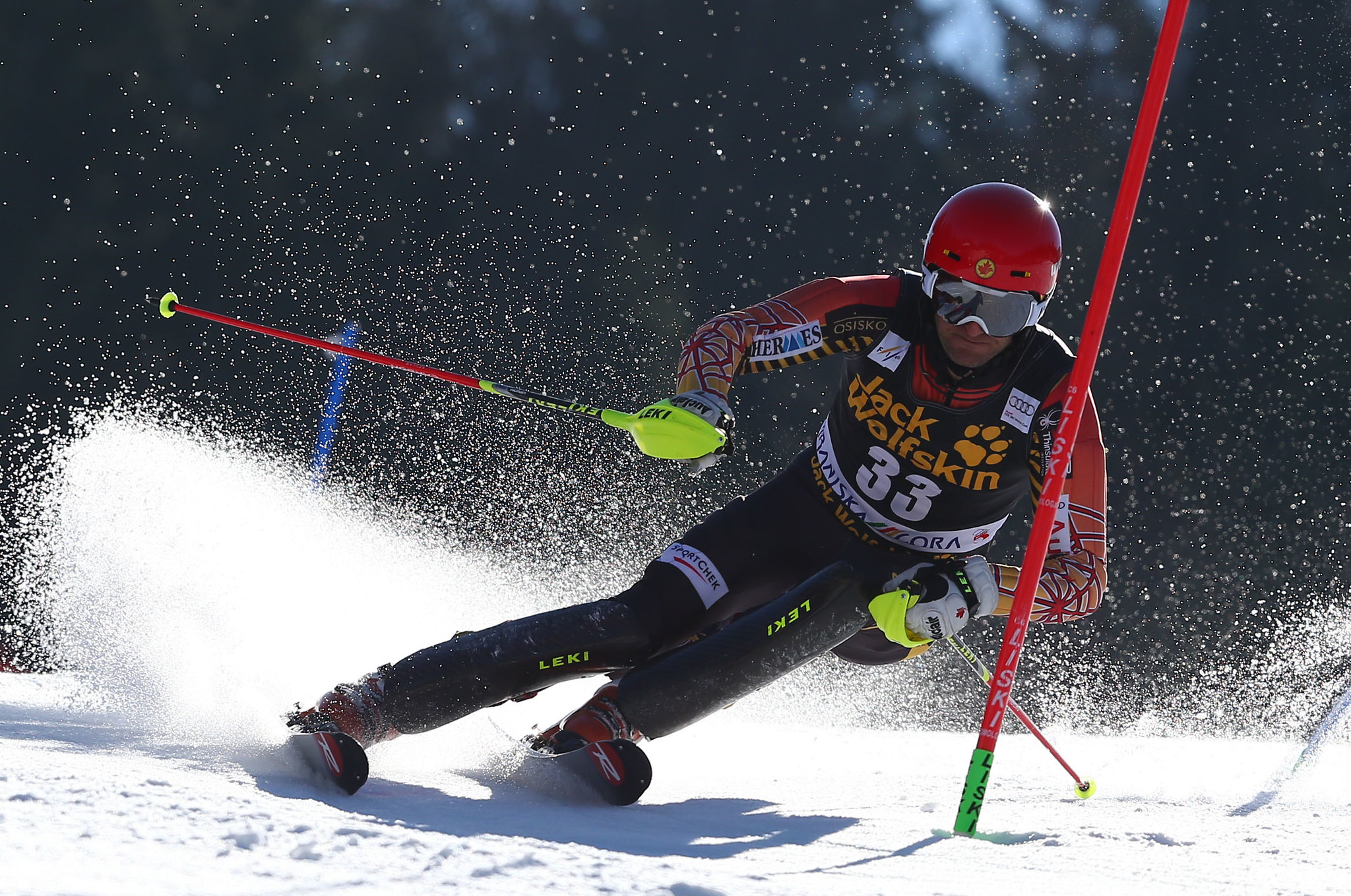 Michael Janyk in action at the final World Cup stop of his career in Kranjska Gora, SLO