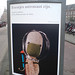 poster in the city of Amsterdam: Eventjes astronaut zijn